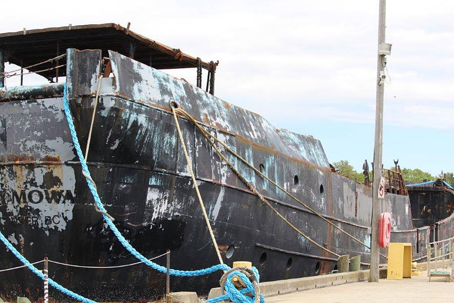 <p>CONTRIBUTED PHOTO</p><p>The derelict vessel has been a thorn in the side of the Town of Shelburne since 2014.</p>