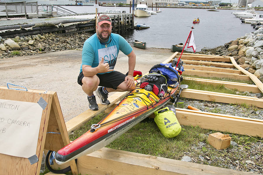 <p>BRITTANY WENTZELL PHOTO</p><p>Rich Brand, a motivational speaker and adventurer, stopped in Brooklyn on his journey to circumnavigate the eastern United States and part of Canada. He's clocked thousands of kilometres and has thousands to go yet.</p>