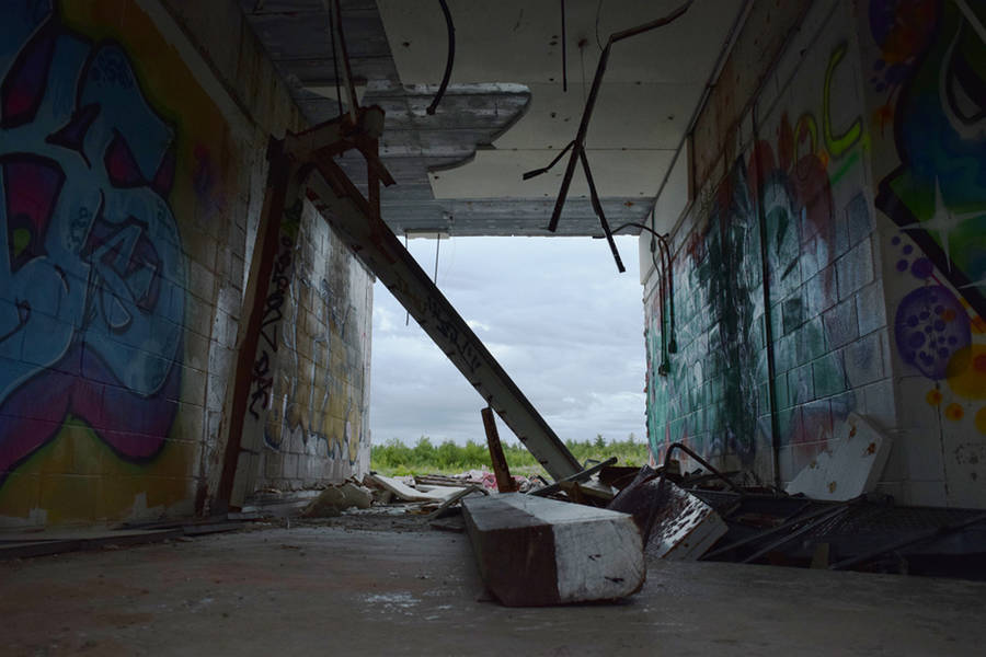 <p>MICHAEL LEE PHOTO</p><p>The site is not in good shape and it should be noted that pieces that were once attached to the walls or ceilings have since fallen down or hang overhead.</p>