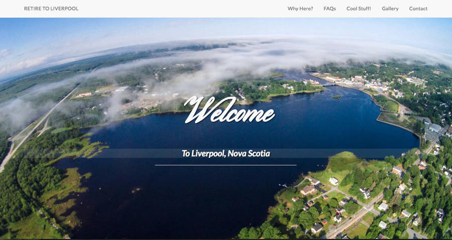 <p>RETIRE TO LIVERPOOL WEBSITE</p><p>A screen shot taken of the homepage for the website Retire to Liverpool, a site recently featured in a Region of Queens Municipality ad campaign targeted at future retirees from Ontario.</p>