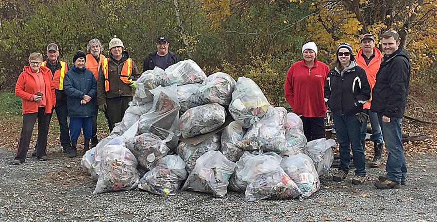 <p>CONTRIBUTED PHOTO</p><p>Civic-minded volunteers on a clean-up with Blockhouse Area Ratepayers Kinship (BARK). Left to right: Wanda Martell, Eric Martell, Verna Knickle, Derek Purcell, Paul Young, Blane Knickle, Brenda Knickle, Reena Wentzell, Errol Joudrey, and Luke Wentzell.</p>