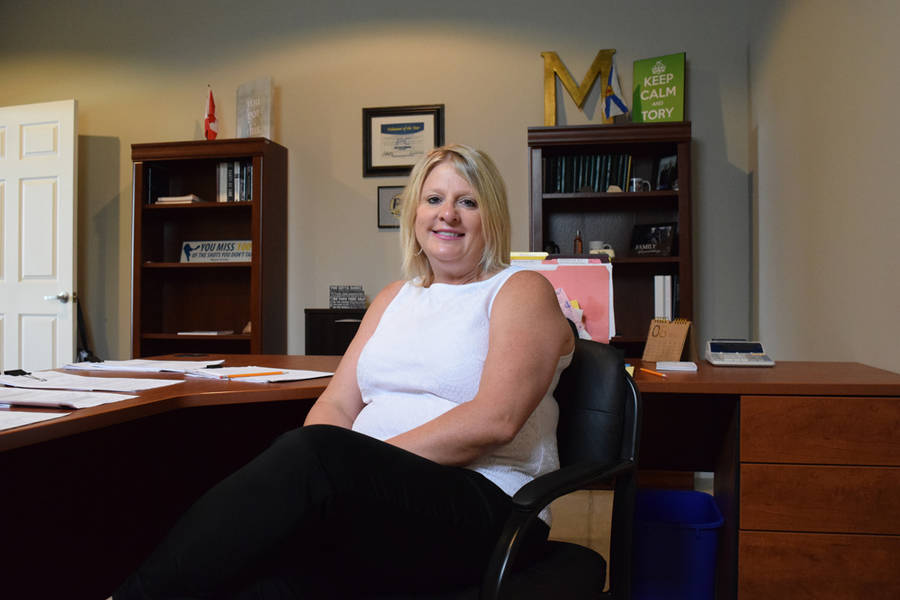 <p>MICHAEL LEE PHOTO</p><p>Kim Masland, MLA for Queens-Shelburne and former senior safety coordinator for Queens County, at her constituency office in Liverpool.</p>