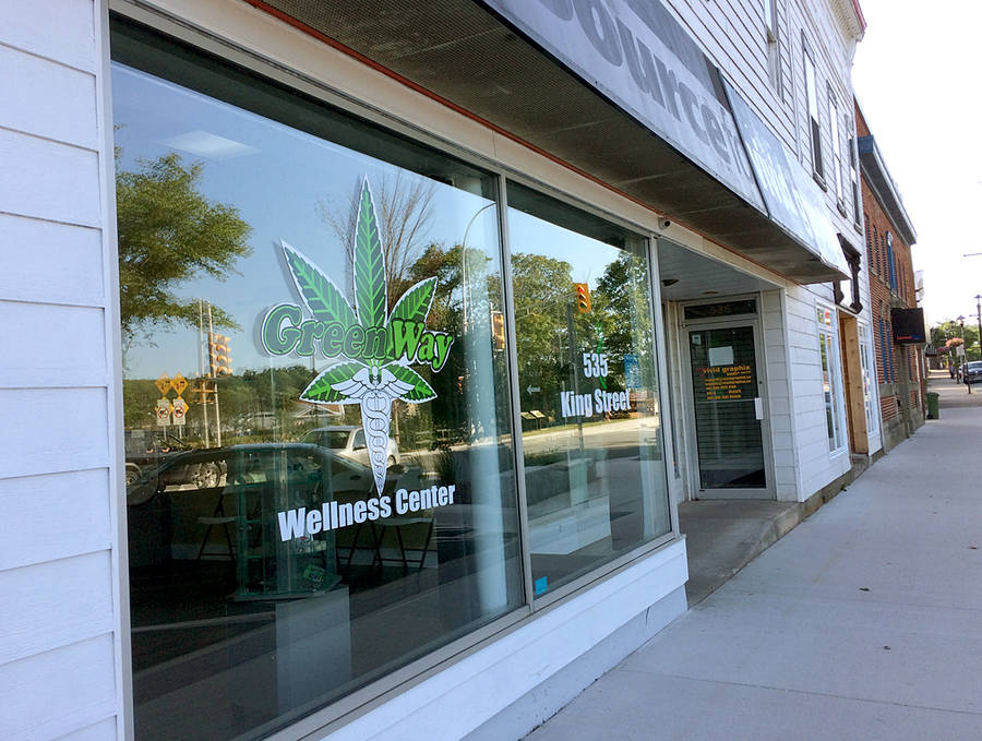 <p>BRITTANY WENTZELL PHOTO</p><p>GreenWay Wellness Centre and Dispensary on King Street has been ordered to shut its doors after their application for a development permit was denied on the grounds that the product they are selling is not legal.</p>