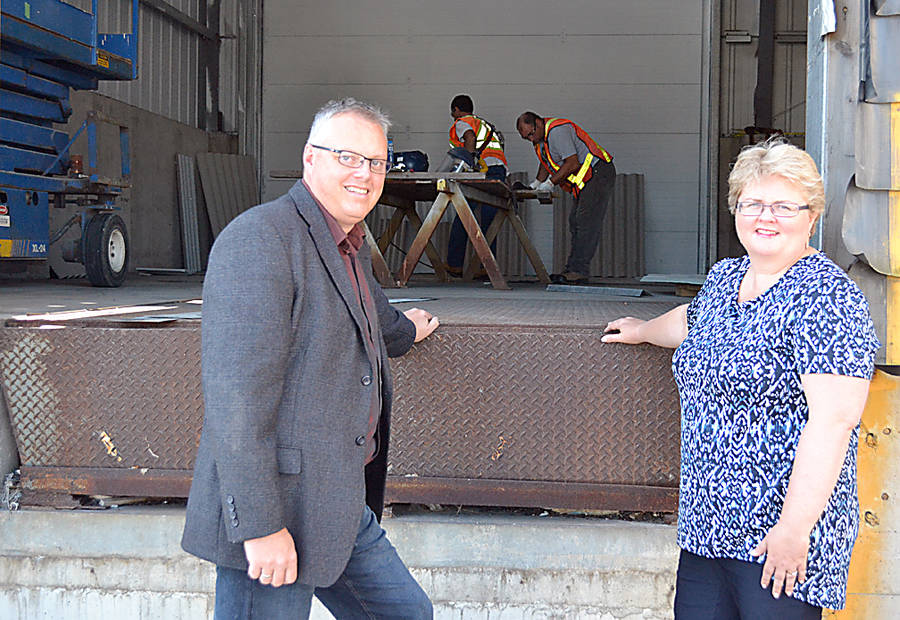 <p>GAYLE WILSON PHOTO</p><p>Myrna Gillis, CEO for Aqualitas, on the building site at the Port Mersey Commercial Park with the company's head of operations and strategic initiatives, Jeff Garnhum.</p>