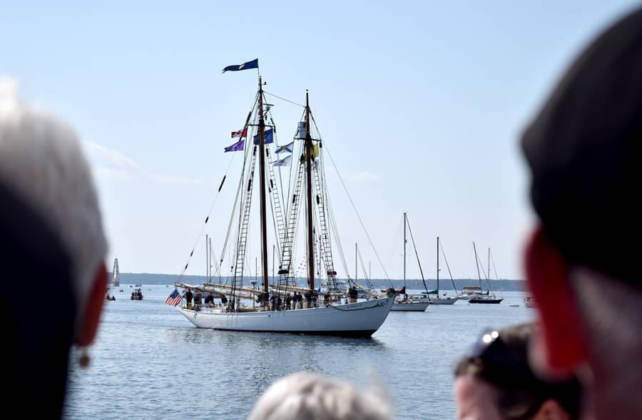 <p>MICHAEL LEE PHOTO</p><p><em>Bowdoin</em>, built in 1921 for famed Arctic explorer Donald B. MacMillan and the official vessel of the U.S. state of Maine, arrives in Lunenburg for the Tall Ships Regatta on August 10.</p>