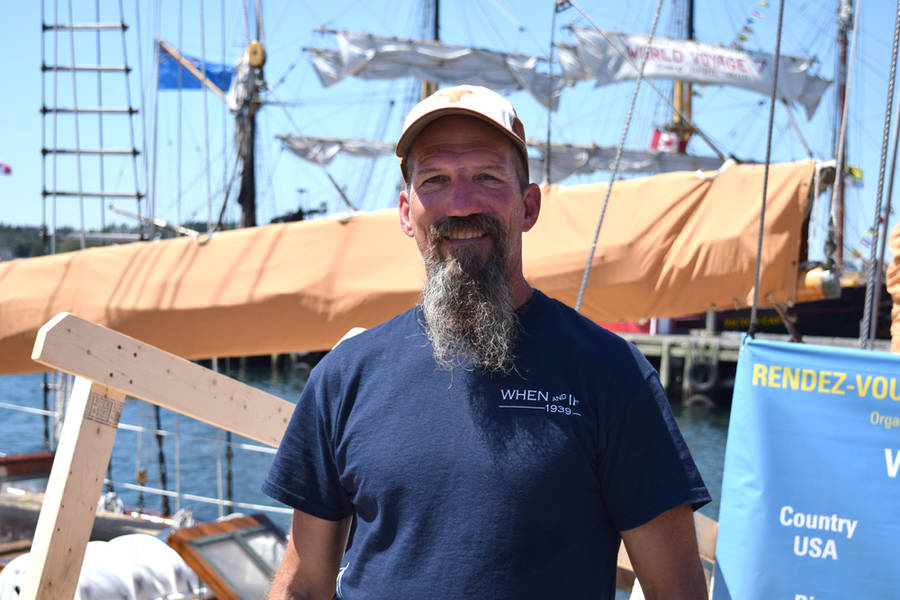 <p>MICHAEL LEE PHOTO</p><p>Kurt Schultz, a mate on the American ship <em>When and If</em>, in Lunenburg.</p>