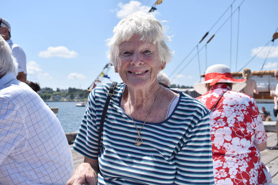 <p>MICHAEL LEE PHOTO</p><p>Lorna Firstbrook from Meaford, Ontario, in Lunenburg for the Tall Ships Regatta.</p>