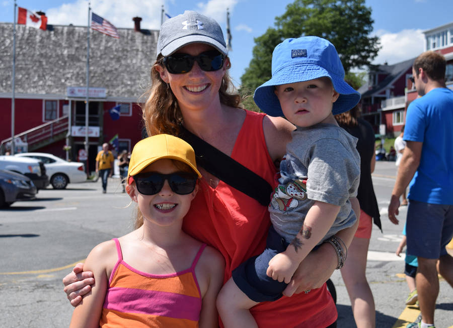 <p>MICHAEL LEE PHOTO</p><p>Christine Gobien, middle, from Centreville with her two-year-old son Nolan, right, and her cousin's eight-year-old daughter Peyton Nickerson, left.</p>