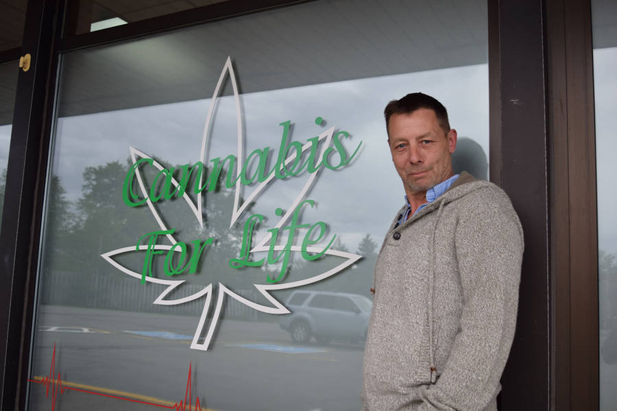 <p>MICHAEL LEE PHOTO</p><p>Corey White, owner of medical marijuana dispensary Cannabis For Life in Chester.</p>