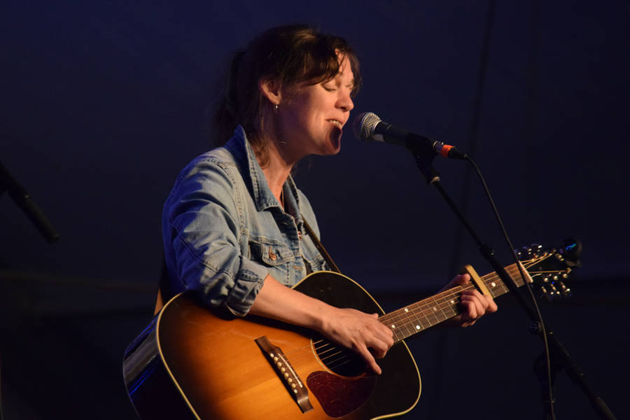 <p>MICHAEL LEE PHOTO</p><p>Newfoundland singer-songwriter Amelia Curran gives a solo performance at the festival.</p>