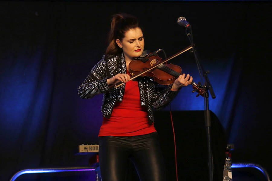 <p>BRITTANY WENTZELL PHOTO</p><p>Cassie MacDonald, one half of sister duo Cassie and Maggie, plays the fiddle.</p>