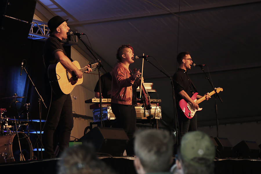 <p>BRITTANY WENTZELL PHOTO</p><p>From left, Paul Aarntzen, Rosanna Burrill and Clayton Burrill of the Halifax-based band Hillsburn.</p>