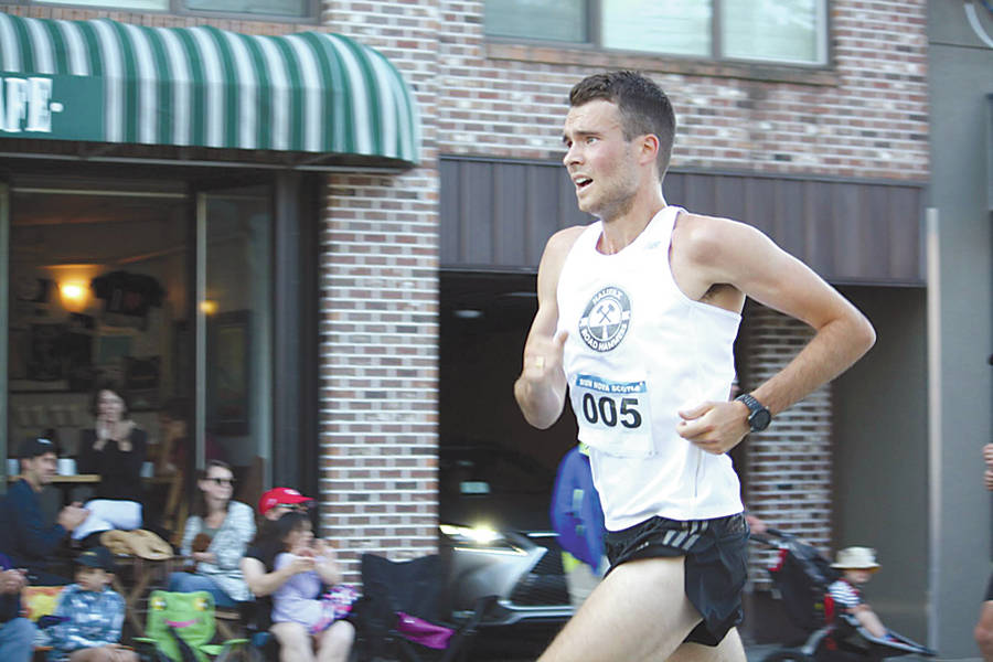 <p>PAUL MACMILLAN PHOTO</p><p>Cal DeWolfe placed second overall out of over 350 runners at this month's six-mile Dartmouth Natal Day road race.</p>