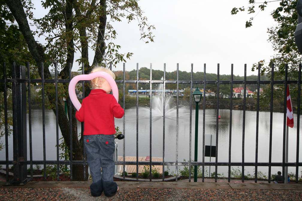 <p>FILE PHOTO</p><p>A child gets a view of Bridgewater's LaHave River fountain.</p>