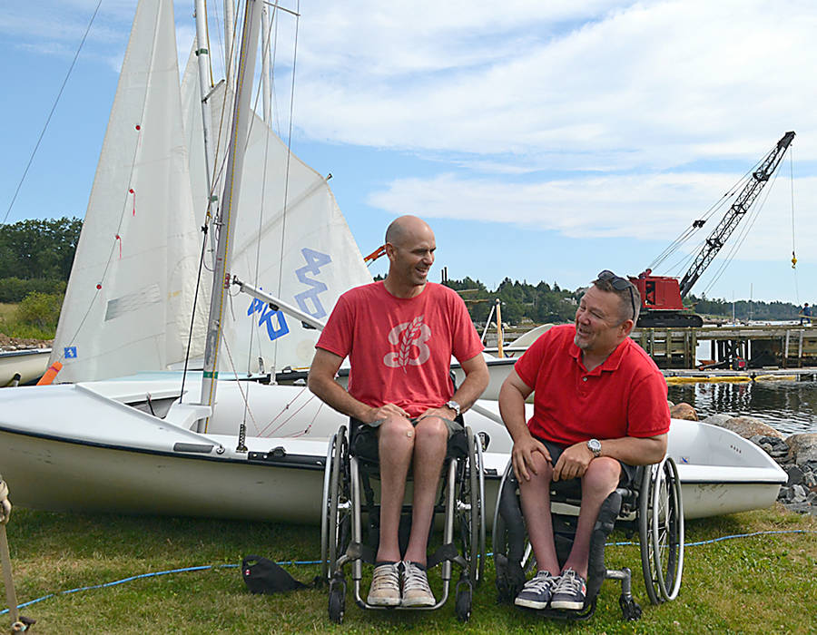 "<p>GAYLE WILSON PHOTO</p><p>Paralympic bronze medalists Paul Tingley (left) and Scott Lutes were on hand for the ACOA funding announcement for the LYC, which Tingley described as ""a game changer.""</p>"
