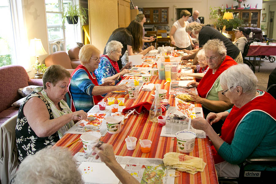 <p>BRITTANY WENTZELL PHOTO</p><p>Seniors at Queens Manor are creating art and self-funding their own art program so they can enjoy it every week.</p>