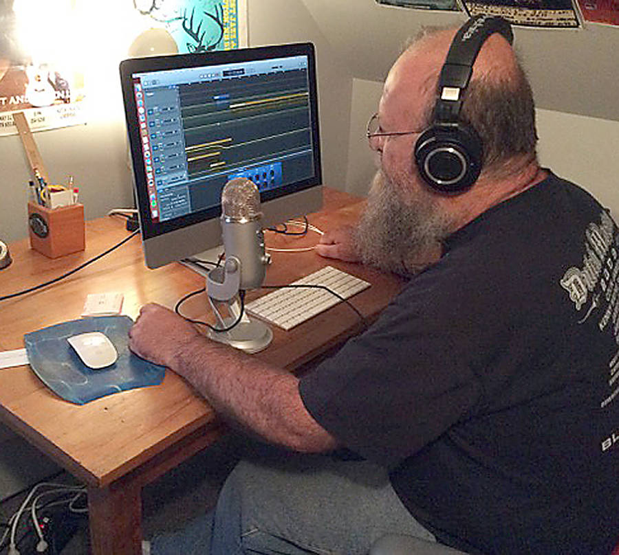 <p>CONTRIBUTED PHOTO</p><p>Howard Van Tassel produces his podcast Tic O Fog in his own home studio.</p>