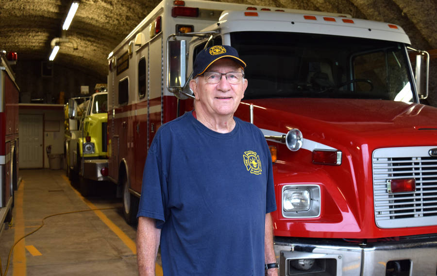 <p>MICHAEL LEE PHOTO</p><p>Gordon Hunter has stepped down as fire chief of the Hemford and District Fire Department after 38 years in the role.</p>