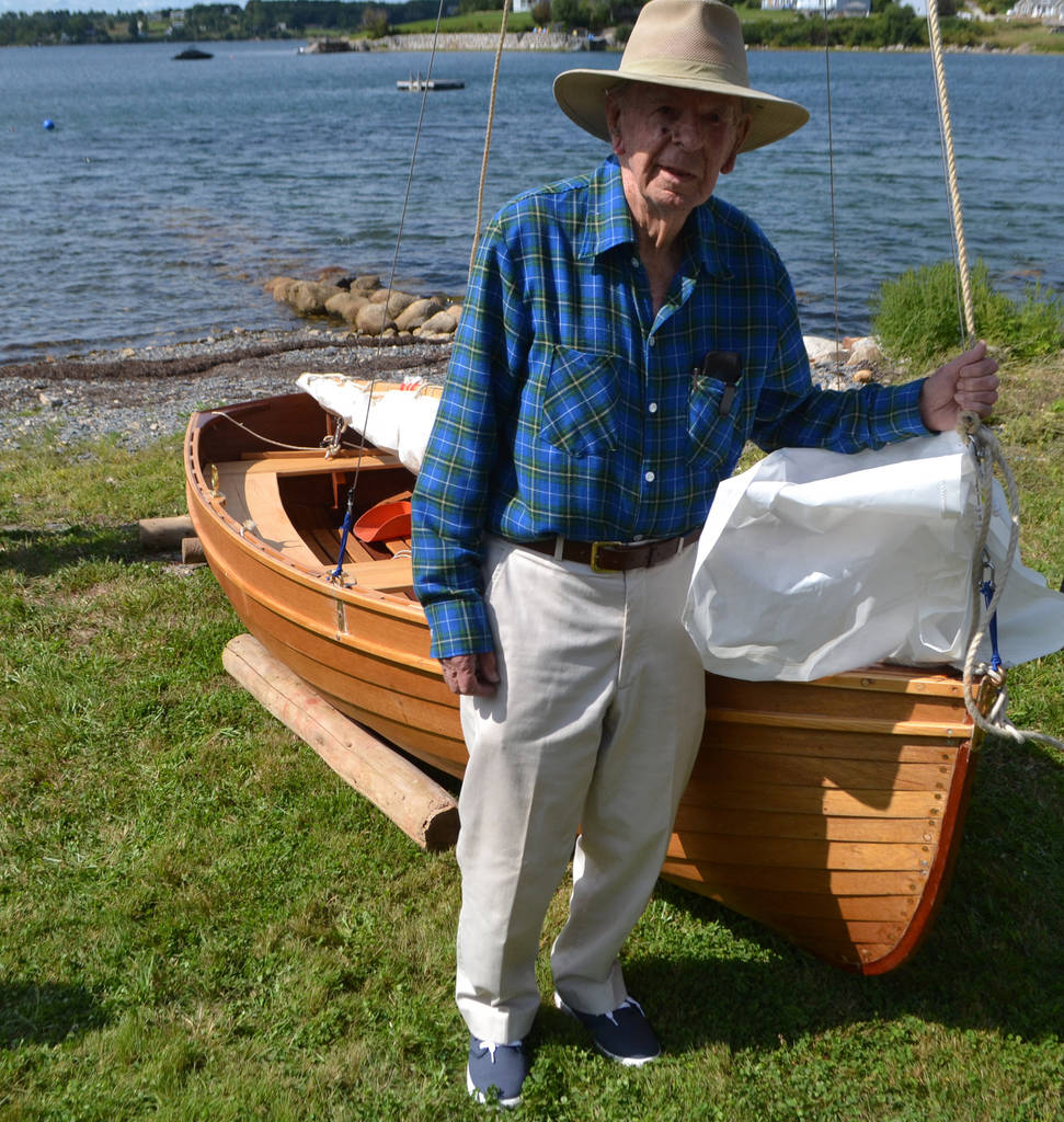 <p>KEITH CORCORAN PHOTO</p><p>Ray Creery and the Pamela G before it's launched August 26 near Mahone Bay.</p>