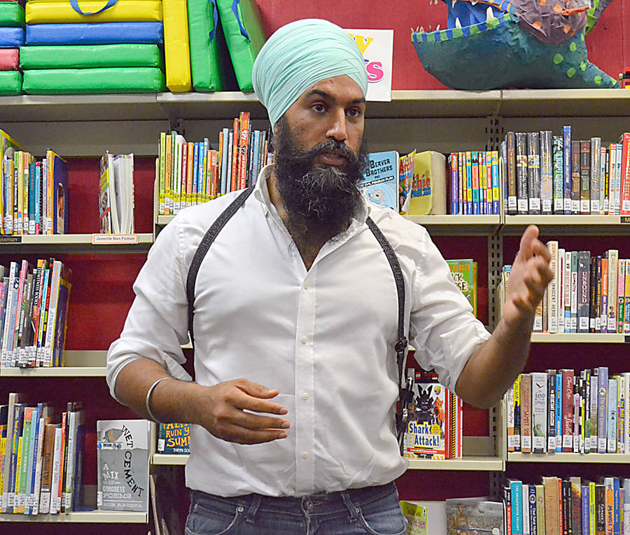 <p>GAYLE WILSON PHOTO</p><p>Jagmeet Singh, the leadership candidate for the federal NDP, is a criminal lawyer from Toronto. He was at the Lunenburg library August 28 on a campaign swing through the province.</p>
