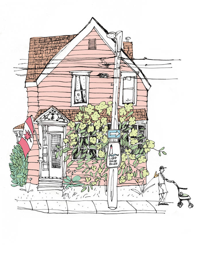<p>CONTRIBUTED IMAGE</p><p>A drawing of a home in Liverpool from Sketch by Sketch Along Nova Scotia's South Shore, which debuts in September.</p>