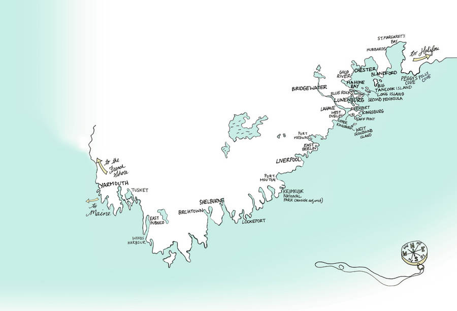 <p>CONTRIBUTED IMAGE</p><p>A map of the many places FitzGerald visited during her travels in creating her South Shore-based book.</p>