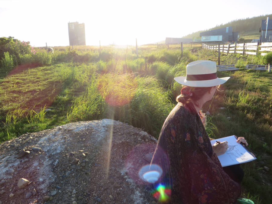 <p>CONTRIBUTED PHOTO</p><p>Emma FitzGerald, the artist, drawing in Kingsburg, Lunenburg County.</p>