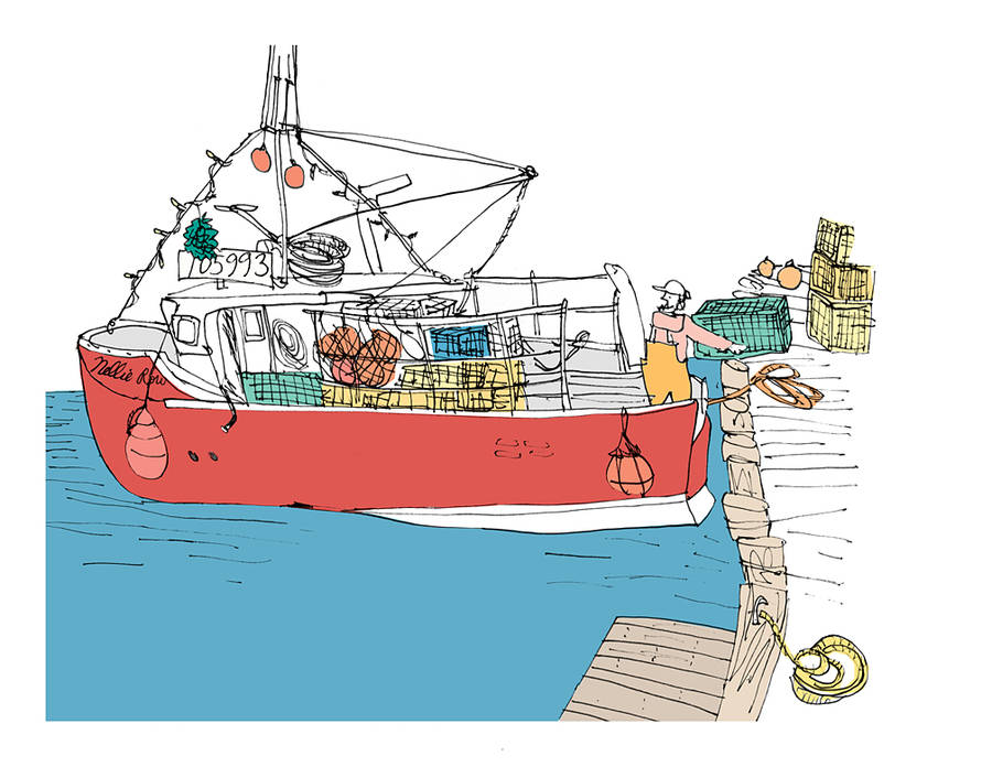 <p>CONTRIBUTED IMAGE</p><p>A fishing boat sketched by FitzGerald.</p>