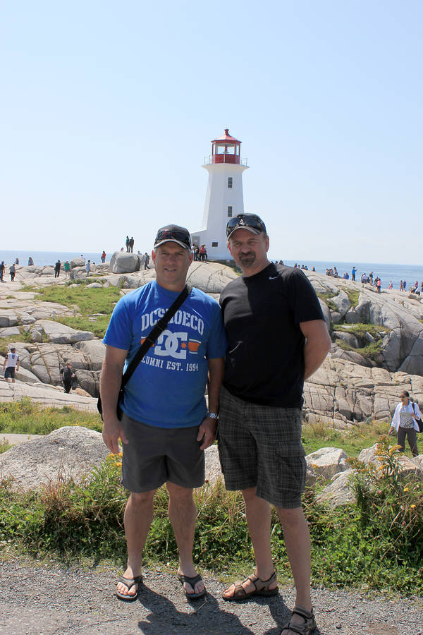 <p>CONTRIBUTED PHOTO</p><p>A meeting of the Craig Buffets. Craig Raymond Buffett from Lunenburg is on the left, while his friend, Craig William Buffet from Norfolk, stands on the right.</p>