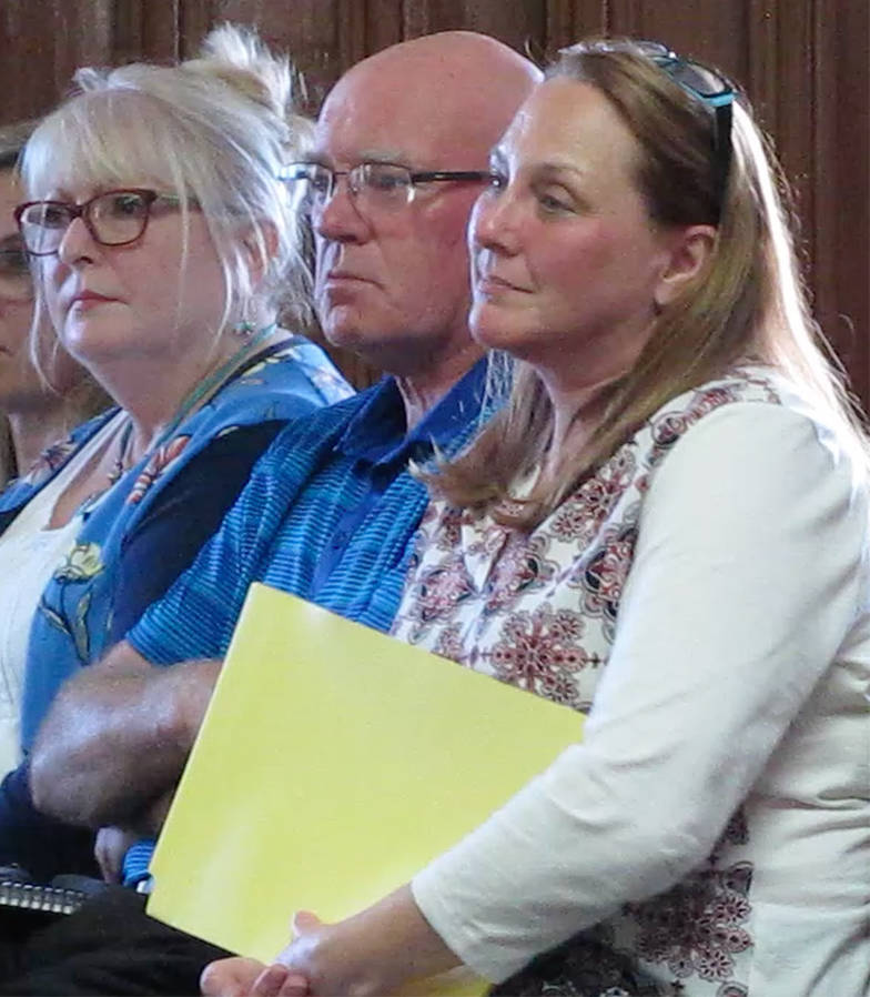 <p>KEITH CORCORAN PHOTO</p><p>From left, Julie Lobb, Robin Scott and Angela Saunders were among presenters giving an overview recently to town council about Lunenburg's tall ships event in August.</p>