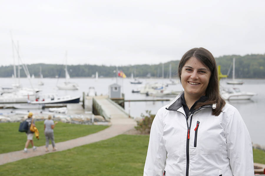 <p>BRITTANY WENTZELL PHOTO</p><p>Lesley Taylor, a local sailing coach and competitor was pleased with the turn out and hopes it will create more interest from women in the sport of sailing.</p>
