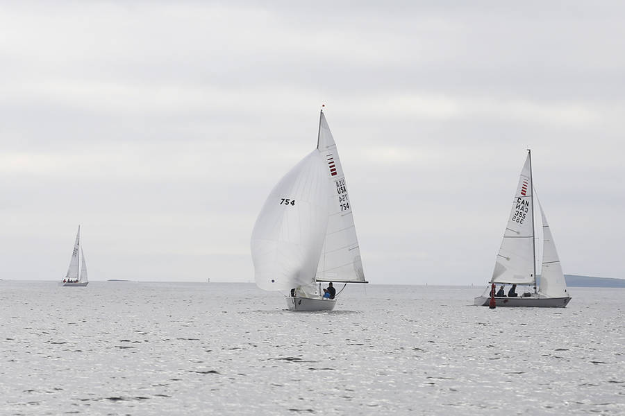 <p>BRITTANY WENTZELL PHOTO</p><p>The Lunenburg Yacht Club loaned out Sonar brand keelboats to the teams for the event.</p>