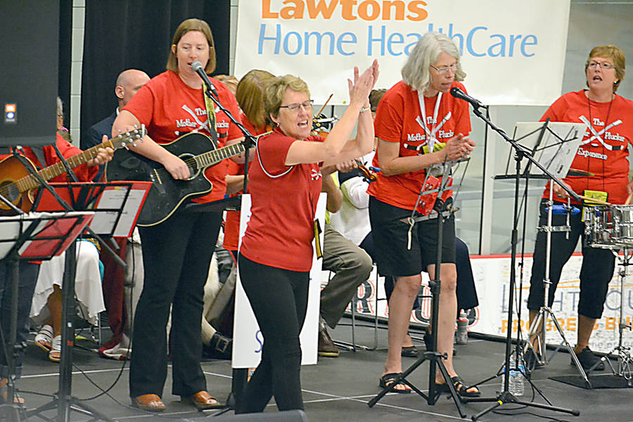 <p>GAYLE WILSON PHOTO</p><p><em>The Mother Pluckers </em>were among the entertainment at the opening ceremonies for the 55+ Games at the Lunenburg County Lifestyle Centre in Bridgewater September 14.</p>