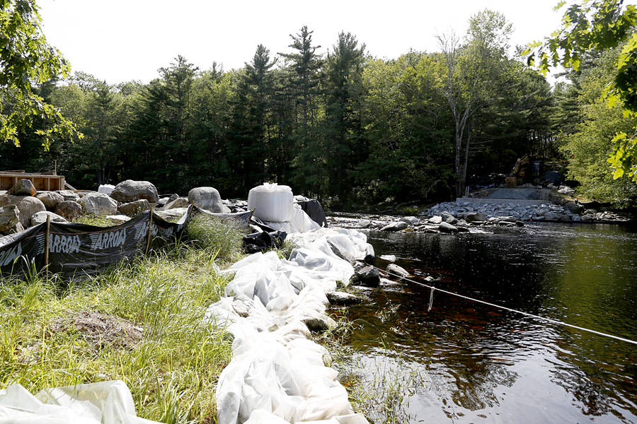 <p>BRITTANY WENTZELL PHOTO</p><p>A new bridge will soon span the Mersey River.</p>