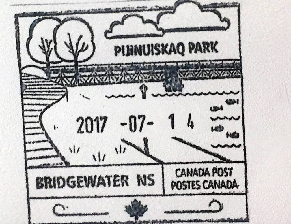 <p>A sample of a Pijinuiskaq Park post mark.</p>
