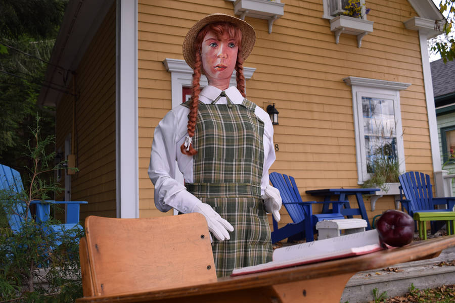 <p>Anne of Green Gables ready for school.</p>