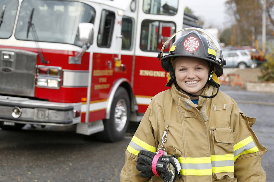 <p>BRITTANY WENTZELL PHOTO</p><p>Jessica Nash, a full time paramedic and volunteer fire fighter with the Bridgewater department, was on the scene the night of the fire and came by a couple times to deal with hot spots as well.</p>