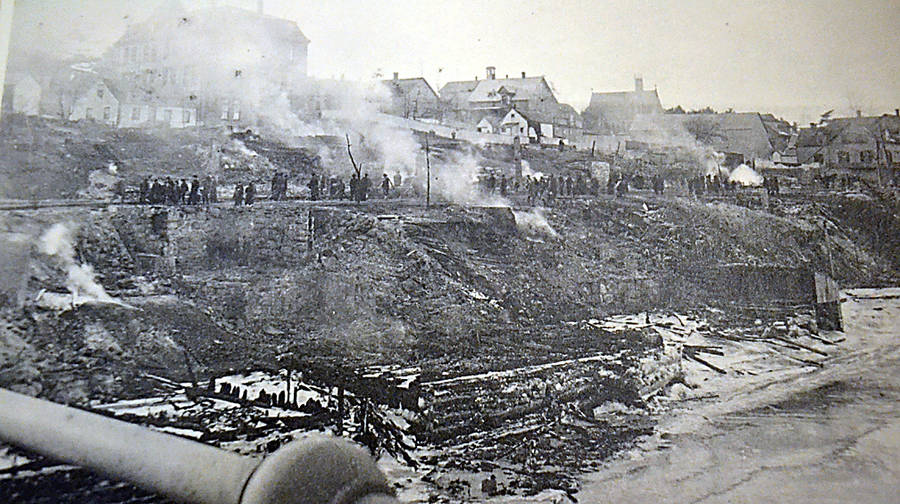 <p>CONTRIBUTED</p><p>Photograph retained by the Bridgewater Fire Department of the 1899 fire, considered the town's worst.</p>