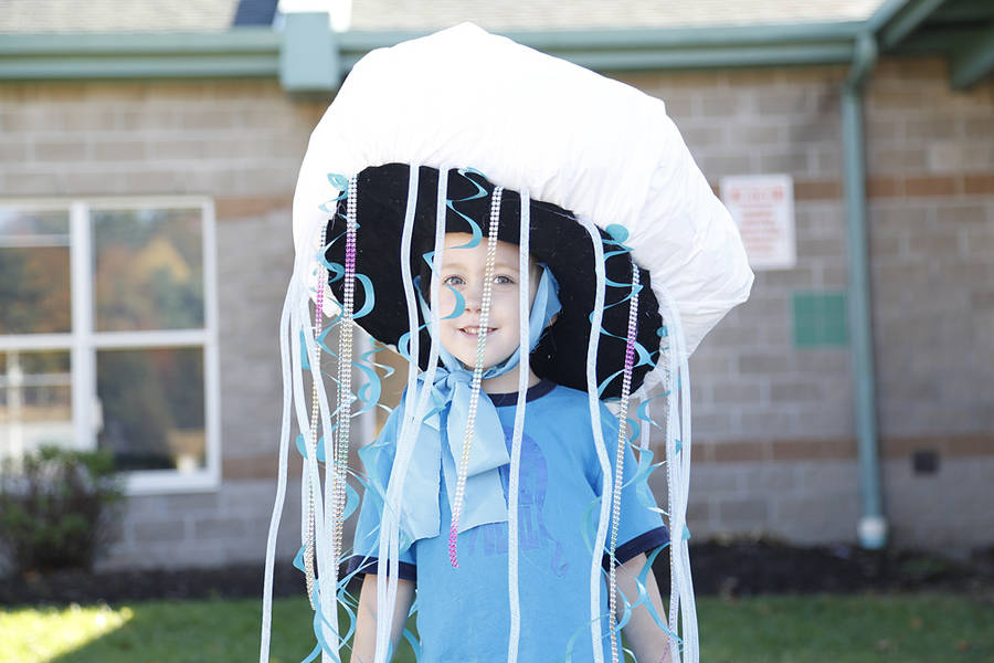 <p>Elijah Hancock-Lowe asked his mom if he could be a jellyfish for Halloween and she created a costume that fit the bill, complete with light up tentacles.</p>