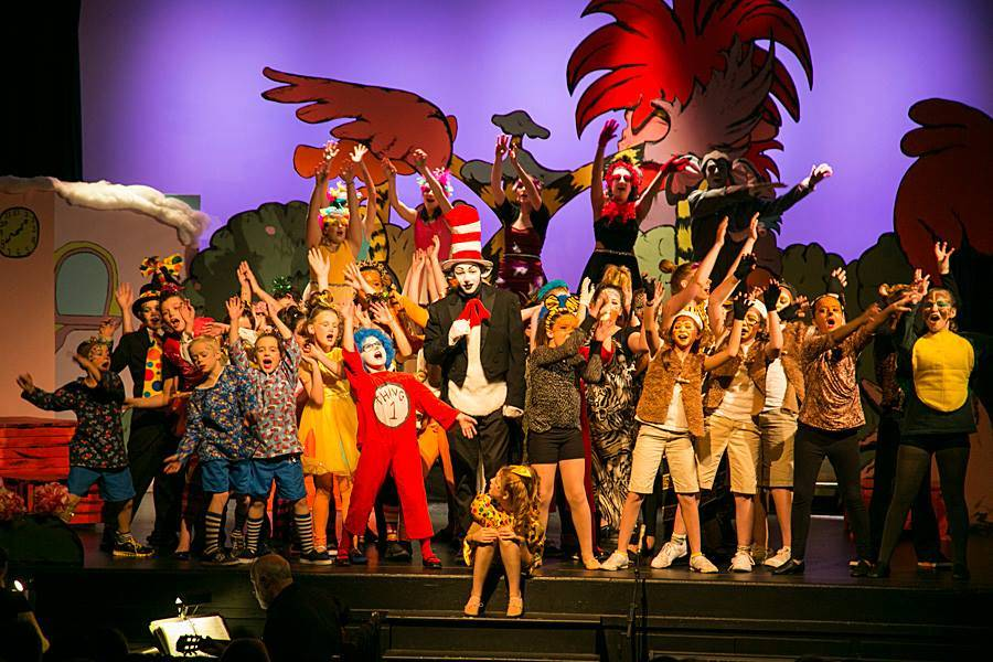 <p>BRITTANY WENTZELL PHOTO</p><p>In 2015 the Winds of Change mounted <em>Seussical Jr.</em> which saw some 40 children take part on stage, with others mentoring with adults backstage and behind the scenes.</p>