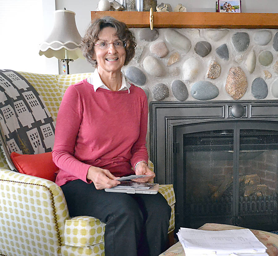 <p>GAYLE WILSON PHOTO</p><p>Ann Barry, now living in Marriott's Cove, is the author of , which describes the bicycle journey her mother, aunt and two other women took from Blockhouse to Charlottetown in 1943.</p>