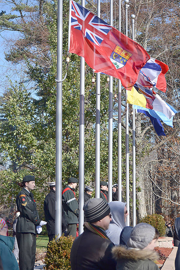 <p>GAYLE WILSON PHOTO</p><p>Despite sharp winds the Remembrance Day ceremony in Bridgewater drew a huge crowd again this year.</p>