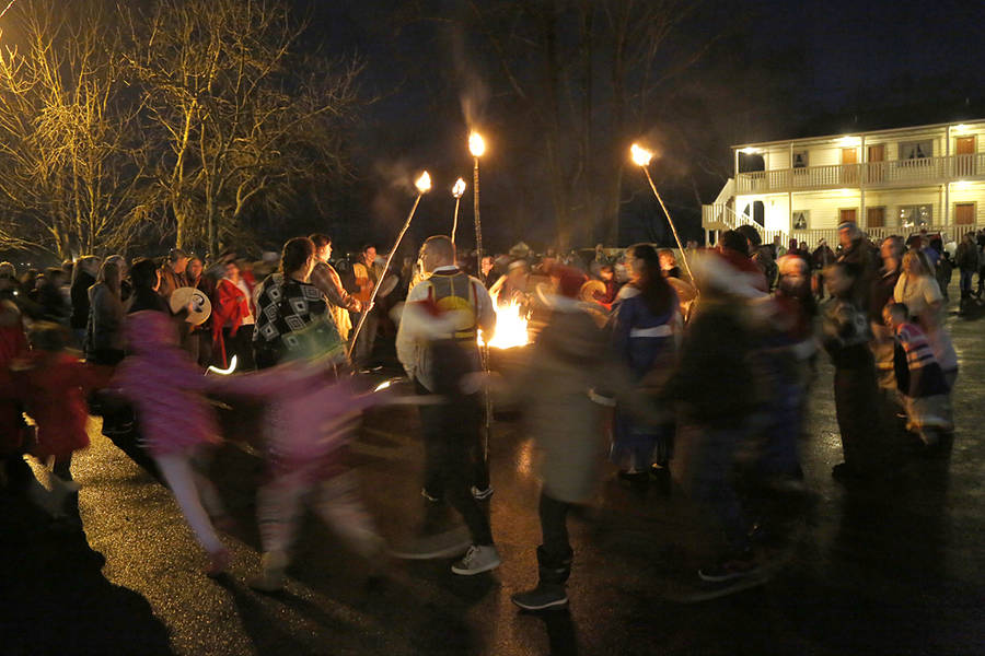 <p>BRITTANY WENTZELL PHOTO</p><p>The Mi'kmaq community, as well as the wider community, join in a round dance.</p>