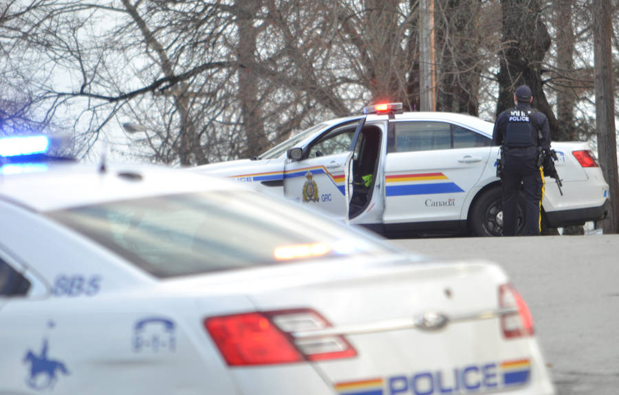 <p>FILE PHOTO</p><p>RCMP on scene in Lunenburg in December 2016 after responding to the stabbing incident.</p>