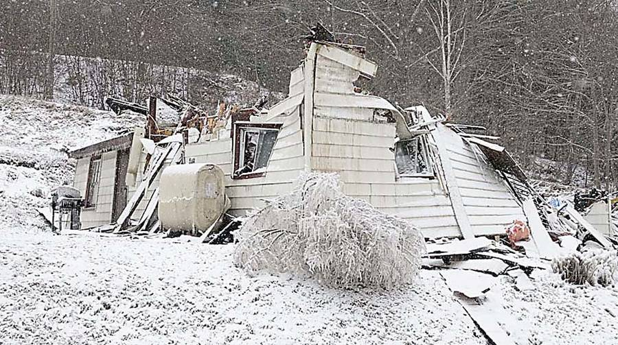 <p>LLOYD WESTHAVER PHOTO</p><p>All that remains of Gail and David Veinotte's home on Clearland Road, outside of Mahone Bay. Friends note that the couple lost a home to fire in Cornwall.</p>