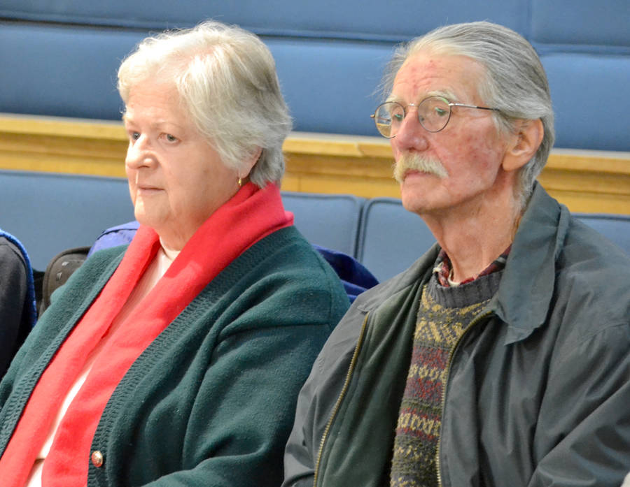 <p>KEITH CORCORAN PHOTO</p><p>Kathyrn and David Wright in attendance at a Bridgewater town council meeting January 22.</p>