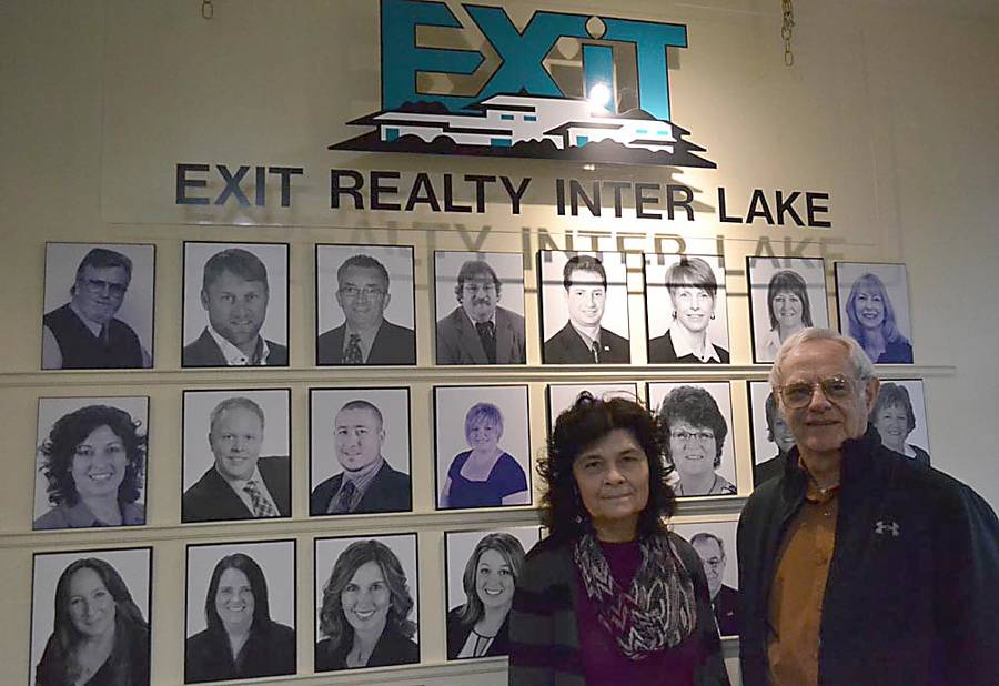 <p>GAYLE WILSON PHOTO</p><p>Jon Walker, co-owner of EXIT Realty Inter Lake, stands next to the firm's broker, Dianne Corkum in the company's Bridgewater office</p>