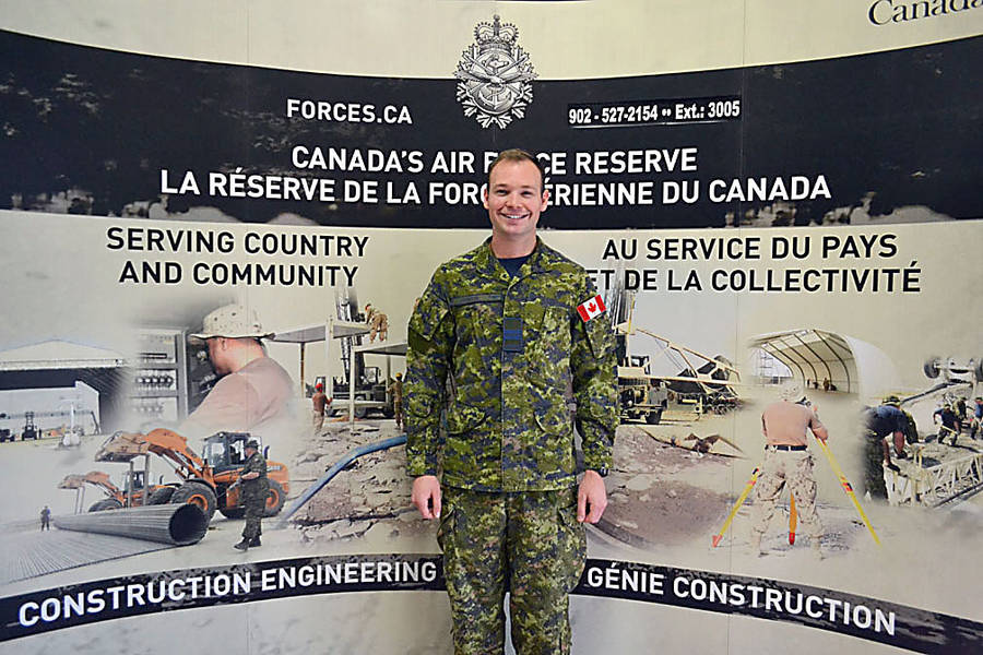 <p>GAYLE WILSON PHOTOS</p><p>Captain Ray Doiron, Officer Commanding of the 143 Construction Engineering Flight unit of the Canadian Armed Forces.</p>