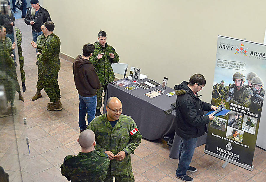 <p>GAYLE WILSON PHOTO</p><p>The Canadian Armed Forces is looking to fill 25 reservist positions at the 143 Construction Engineering Flight unit outside of Bridgewater.</p>