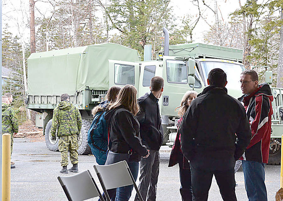 <p>A steady stream of people made their way to the Canadian Armed Forces' 143 CEF unit outside of Bridgewater on February 24 for an open house designed to recruit more reservists.</p>